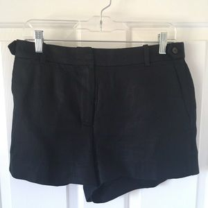 J.Crew 100% Black Linen Shorts / Size 8